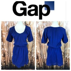 🆕 GAP Royal Blue Short Sleeve V Neck Mini Dress